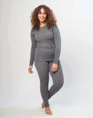 Legging pour femme en laine mérinos - gris