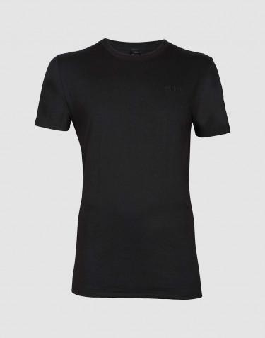 Tee-shirt en coton pour homme Noir