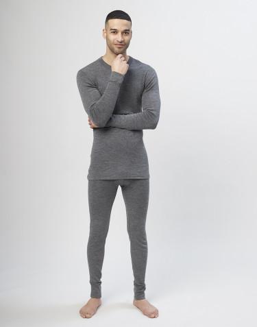 Legging en laine mérinos pour homme - gris
