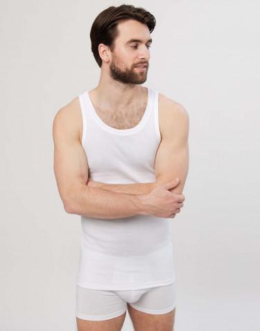 Premium classique - Débardeur en coton pour homme Blanc