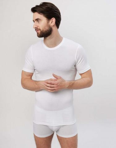 Premium classique - tee-shirt en coton pour homme Blanc