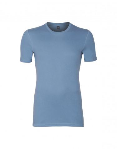 Premium classique - t-shirt en coton pour homme Bleu