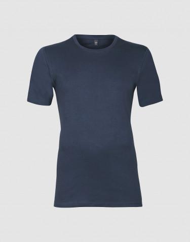 Premium classique - t-shirt en coton pour homme Bleu foncé