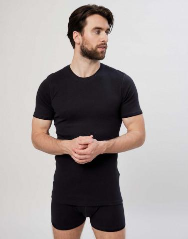 Premium classique - tee-shirt en coton pour homme Noir