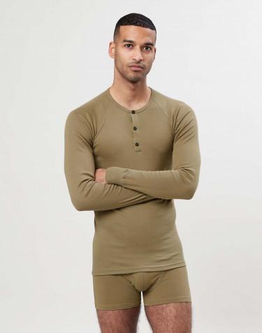 T-shirt à manches longues en coton premium pour homme