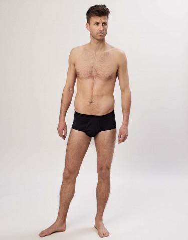 Slip classique en coton côtelé pour homme noir