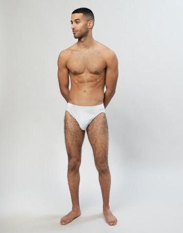 Slip sportif en coton pour homme Blanc