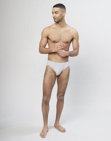 Slip sportif en coton pour homme Gris