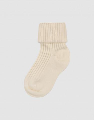 Chaussettes pour bébé en laine mérinos bio Naturel