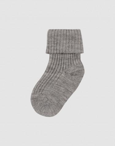 Chaussettes pour bébé en laine mérinos bio Mélange de gris
