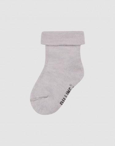 Chaussettes pour enfant - tissu éponge de laine gris clair