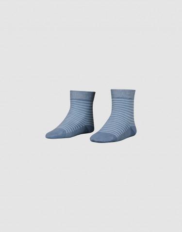 Chaussettes pour enfant - laine mérinos bio bleu