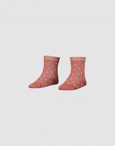 Chaussettes pour enfant - laine mérinos bio Rose foncé