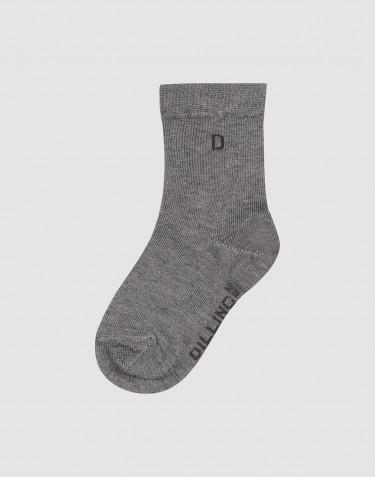 Chaussettes pour enfant - coton bio mélange de gris