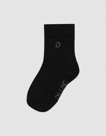 Chaussettes pour enfant - coton bio NOIR
