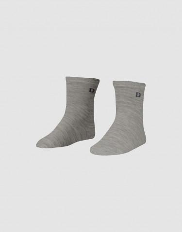 Chaussettes pour enfant - laine mérinos bio Mélange de gris