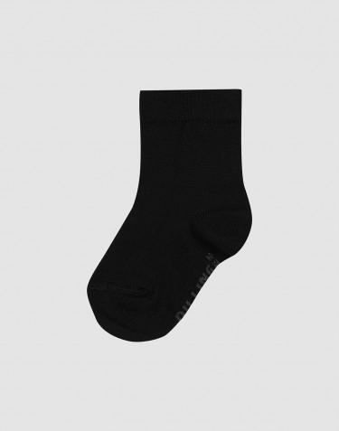Chaussettes pour enfant - laine mérinos bio Noir