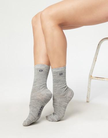 Chaussettes pour femme - laine mérinos biologique Mélange de gris