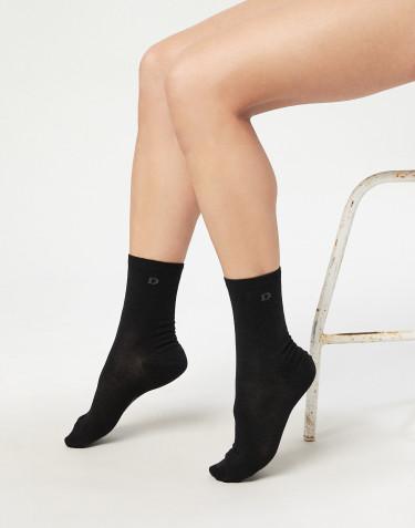 Chaussettes pour femme - laine mérinos biologique Noir