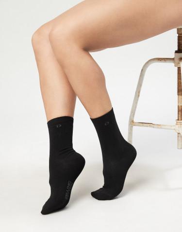 Chaussettes pour femme - coton bio Noir