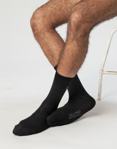 Chaussettes pour homme - laine mérinos bio Noir