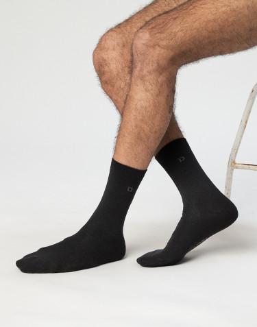Chaussettes pour homme - coton bio Noir