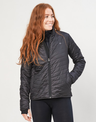 Veste d´extérieur zippée pour femme - en polyester recyclé et laine mérinos noir