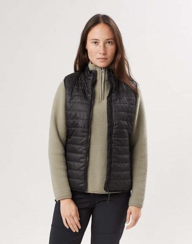 Veste sans manches en polyester recyclé pour femme