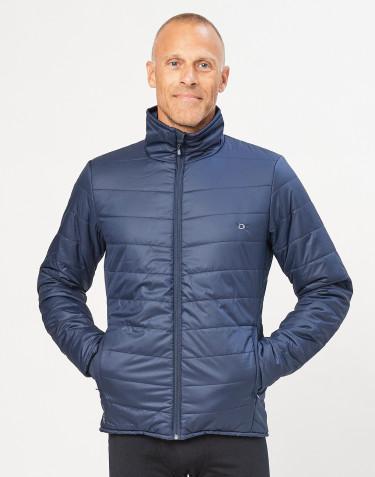 Veste d´extérieur zippée pour homme - polyester recyclé/laine mérinos bleu foncé