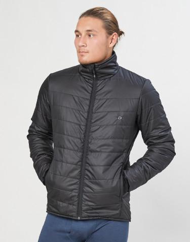 Veste d´extérieur zippée pour homme - polyester recyclé/laine mérinos noir