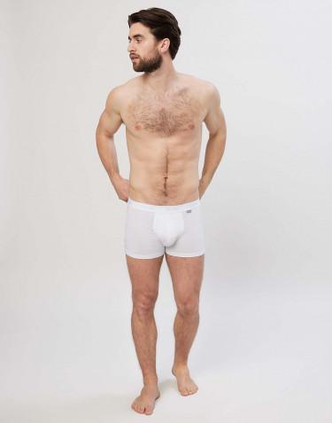 Boxer en coton pour homme Blanc