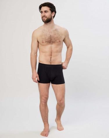 Boxer en coton pour homme Noir