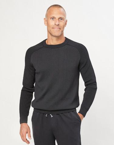 Pull tricoté pour homme noir