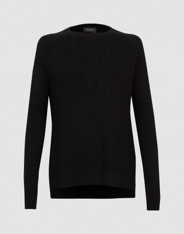 Pull tricoté pour femme noir