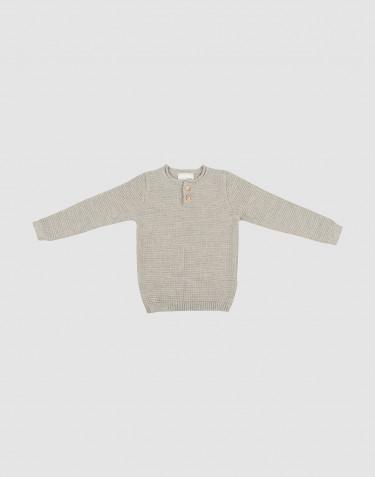 Pull tricoté pour enfant en mélange de gris