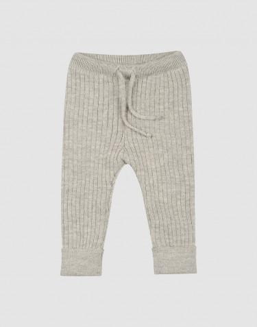 Pantalon tricoté pour bébé en mélange de gris