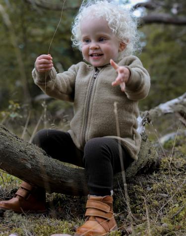 Veste en polaire mérinos pour bébé