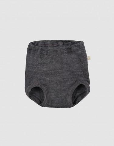 Culotte pour bébé en laine mérinos Mélange de gris foncés