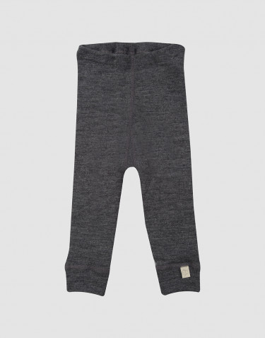 Legging pour bébé en laine mérinos bio Mélange de gris foncés