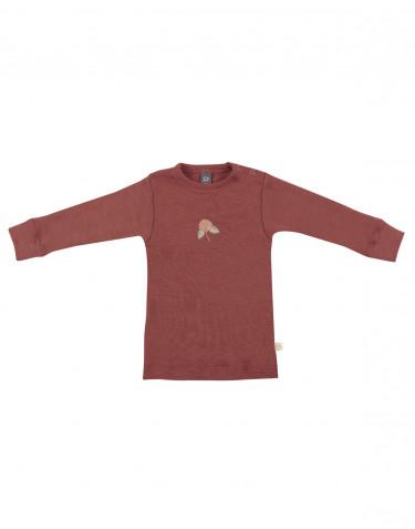 Tricot de peau pour bébé à manches longues, en laine mérinos Rouge