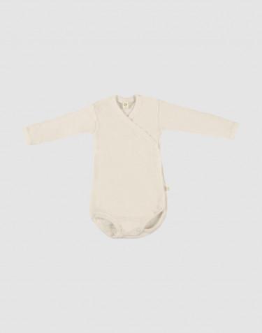 Body croisé pour bébé en laine mérinos Naturel