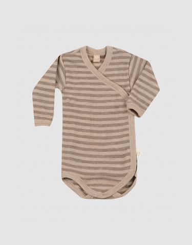 Body croisé pour bébé en laine mérinos
