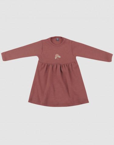 Robe pour bébé en laine mérinos Rouge