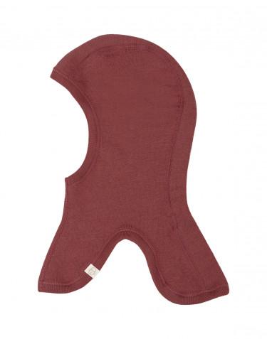 Cagoule pour bébé en laine mérinos bio Rouge