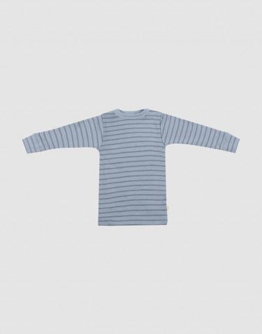 T-shirt à manches longues pour bébé bleu rayé