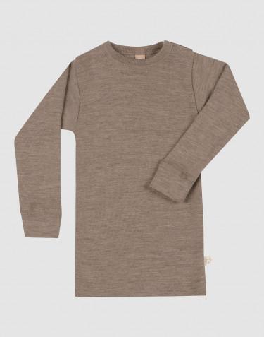T-shirt à manches longues en laine mérinos pour bébé