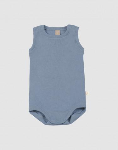 Body débardeur en laine pour bébé bleu