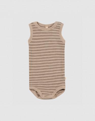 Body débardeur en laine mérinos pour bébé