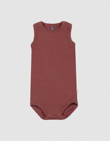 Body débardeur pour bébé en laine mérinos Rouge