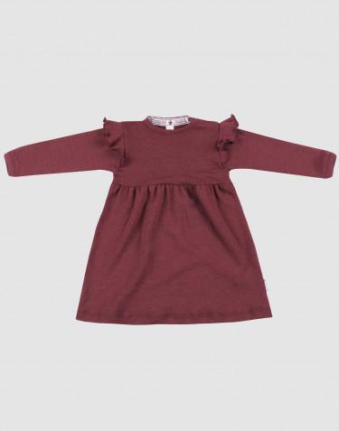 Robe en laine pour bébé - laine mérinos bio rouge noël